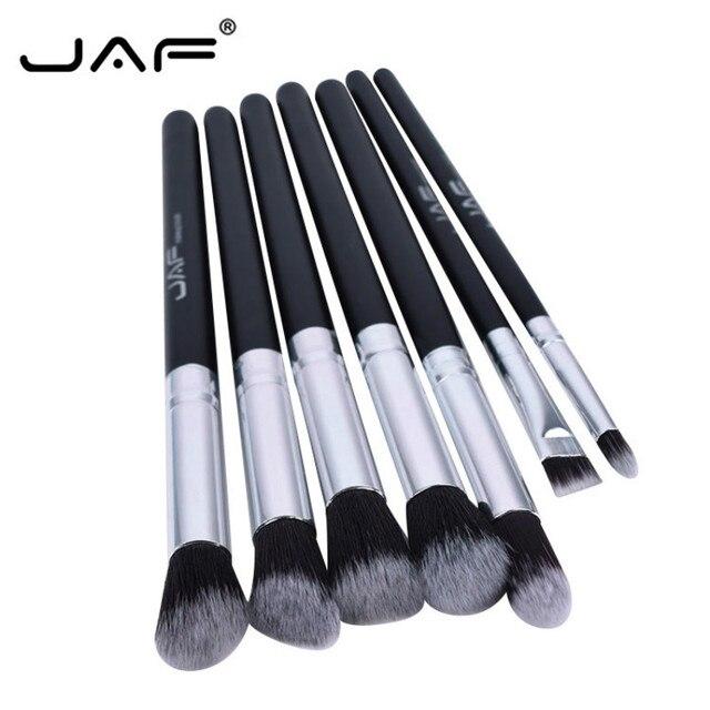 JAF 7pcs Blending Brush Makeup Set of Eye Blending Eyeshadow Lips Concealer Brush Smudge Shading Brushes Professional Portable