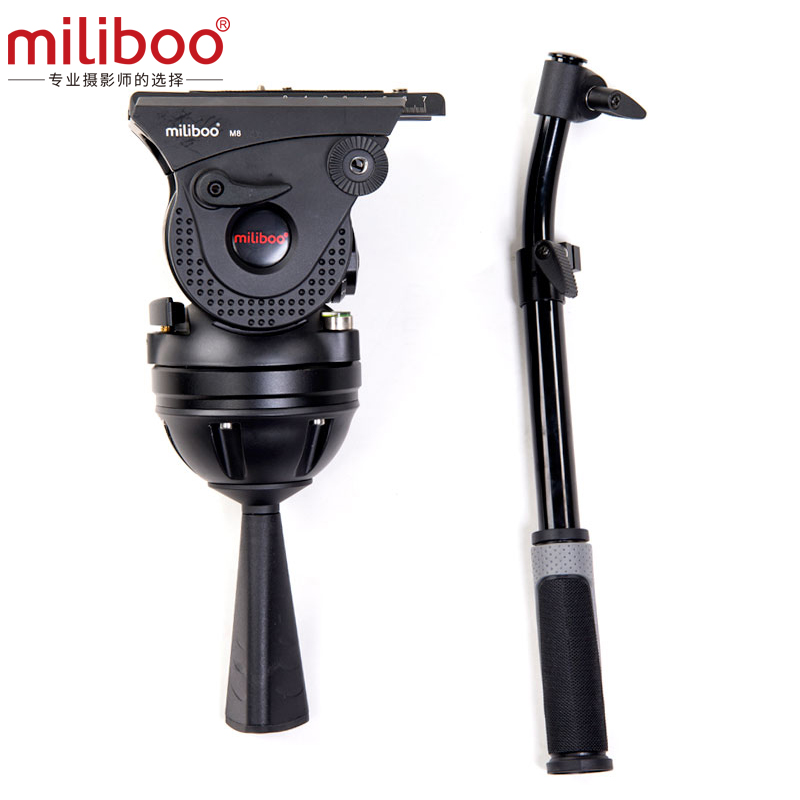 Miliboo M8 15kg weight bear Fluid Head professional camera Video tripod stand Fluid head for NIKON CANON SONY DSLR CAMCORDER diat aluminum alloy tripod video monopod with fluid pan head 3 feet support unipod holder for canon sony nikon dslr