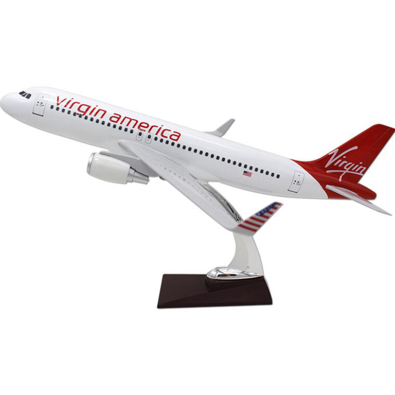 37CM 1:200 Airbus A320 Model Virgin America Airline with Base Resin Aircraft Plane Collectible Display Toys Model Collection37CM 1:200 Airbus A320 Model Virgin America Airline with Base Resin Aircraft Plane Collectible Display Toys Model Collection