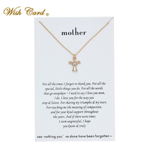 Wish Card Guardian Crystal Angel from Mother Necklace for Women Jewelry Friendsh