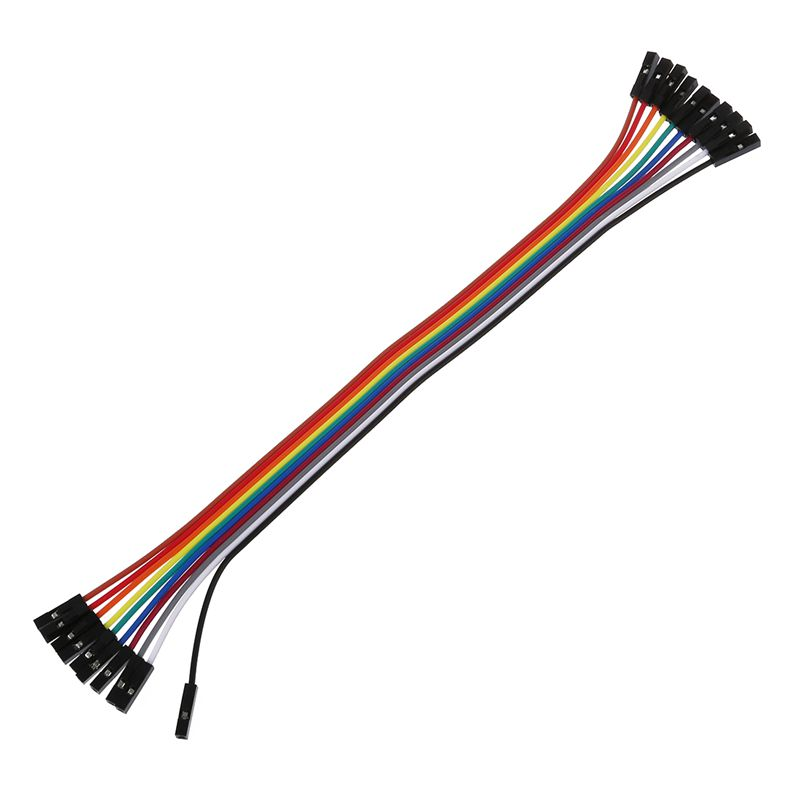 Jumper Cable Wires 10PCS 20CM Female to Female 1 Pin Plug Multicolor Can used for PCB project pc motherboard etc Colorful in Connectors from Lights Lighting