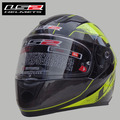 Free shipping LS2 FF320 motorcycle helmet double throughout the whole piece with airbag safety helmet / Black and yellow Stinger