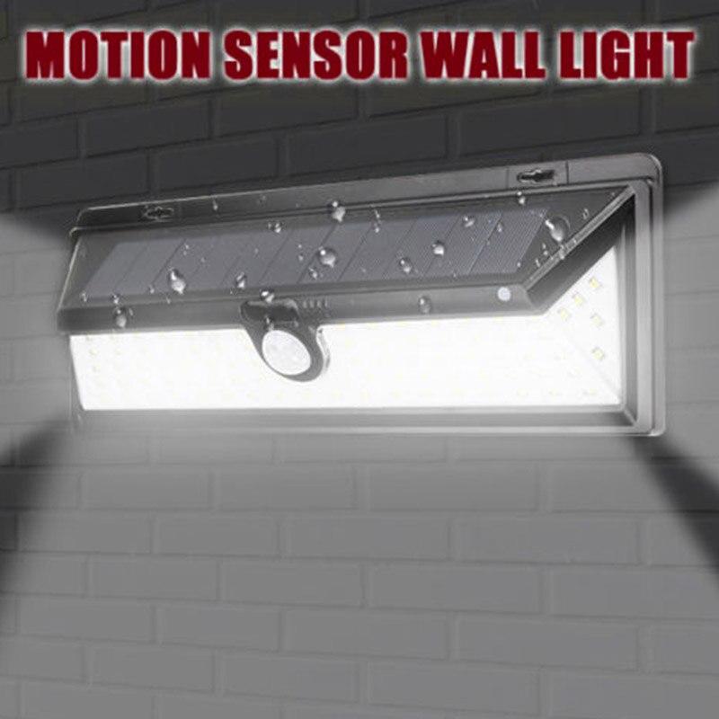 90 LED Solar Power PIR Motion Sensor Outdoor Wall Light Yard Path Garden Lamp MDJ998
