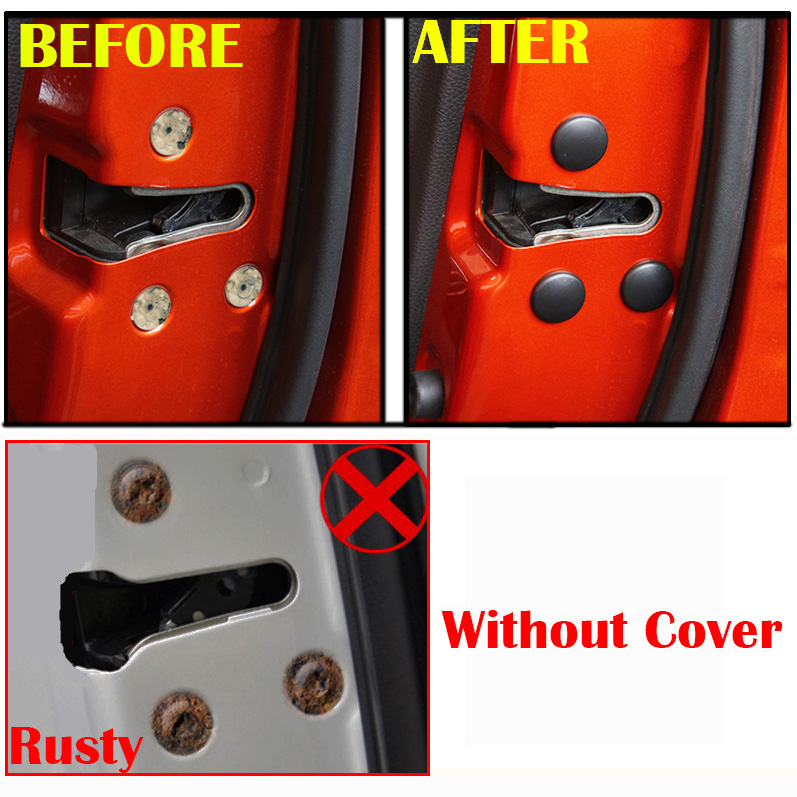 Image 5 - 12Pc cerradura de la puerta del coche cubierta protectora de tornillo para Toyota Land Cruiser 200 Prado J150 RAV4 Corolla Camry Highlander Sienna Yaris Priuscover forcover coverscover for car -