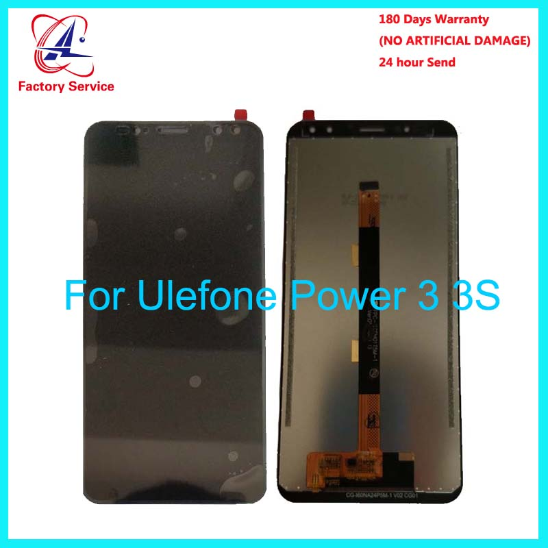 For 100% Original Ulefone Power 3 LCD Display+Touch Screen Panel Digital Replacement Parts Assembly 6.0 For Ulefone Power 3S