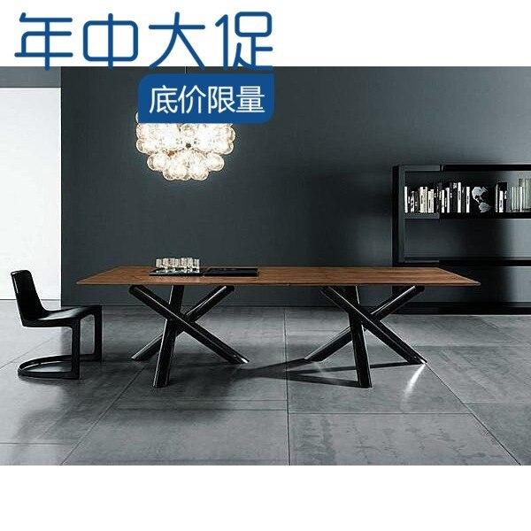 Retro americana muebles de diseño, madera de hierro forjado mesa de ...