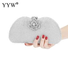 Women Rhinestone Silver Evening Clutch Bags Purse Gillter Luxury Purse Mini Gold Party Luxury Clutches Bag Female Handbag