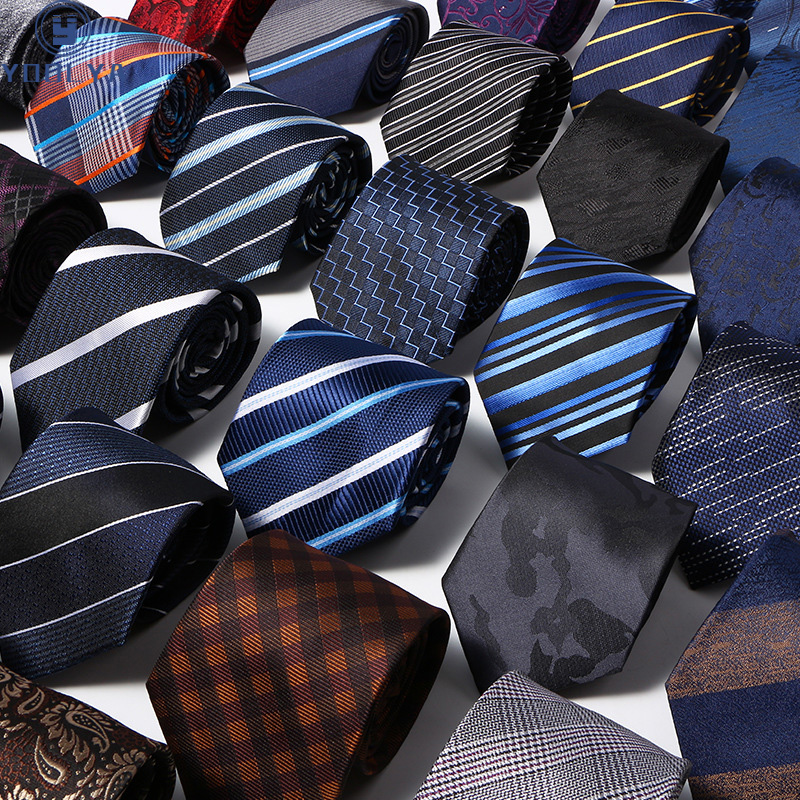 52 Styles Men's Ties Solid Stripes Plaid Floral 8cm Jacquard Woven Necktie Accessories Daily Neck Wear Cravat Wedding Party Gift