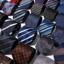52 Styles Men's Ties Solid Stripes Plaid Floral 8cm Jacquard Woven Necktie Accessories Daily Neck Wear Cravat Wedding Party Gift