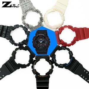 Image 4 - Silicone braccialetto di gomma per casio g shock GD GLS GA 100 110 120 Watch Band Convesso Della Cinghia del cinturino e cassa di Gomma cinturino di vigilanza