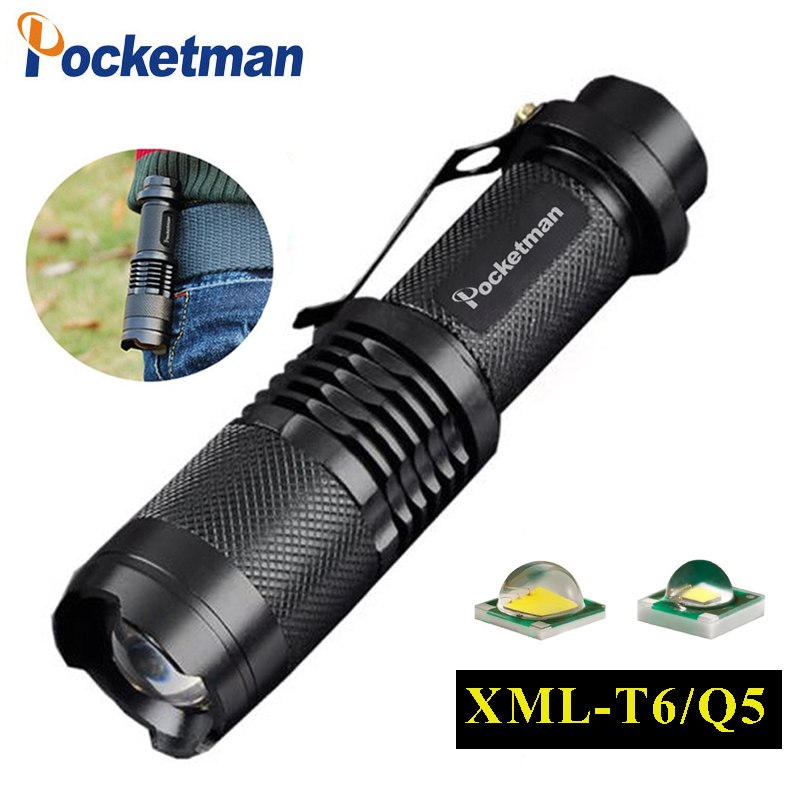 3000ML XML-T6 Q5 Flashlight  Zoomable Tactical Flashlight Waterproof Led Torch