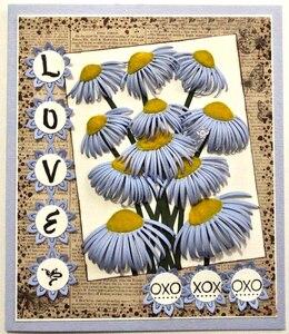 Image 3 - Matrices de découpe en métal artisanal, moule de découpe, 8 pièces décoration florale, Scrapbook, papier artisanal couteau, moule de lame, pochoirs