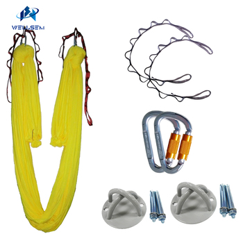 Aerial Anti-Gravity Yoga Hammock yoga swing bed+auto-lock carabiner +daisy chain +celling x mount,Inversion Traction touch