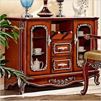 antique wooden European Living Room Locker Cabinet for Sale pfy4003