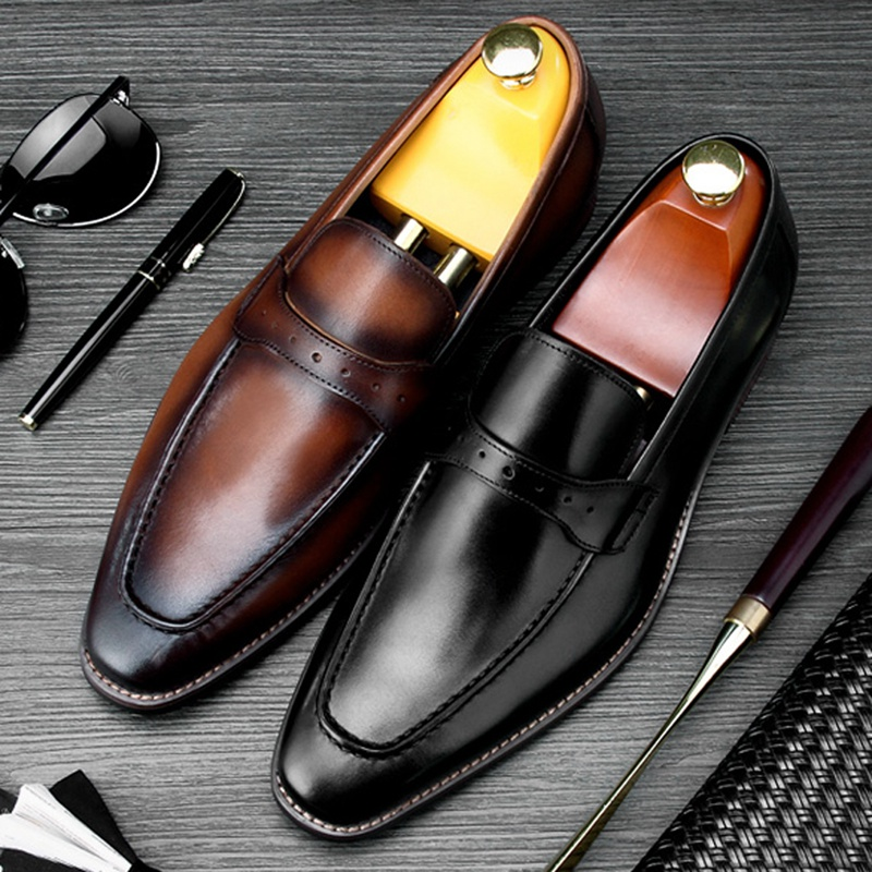 New Arrival Round Toe Slip on Man Casual Shoes Genuine Leather Handmade Wedding Loafers Mens Height Increasing Prom Flats SS369New Arrival Round Toe Slip on Man Casual Shoes Genuine Leather Handmade Wedding Loafers Mens Height Increasing Prom Flats SS369