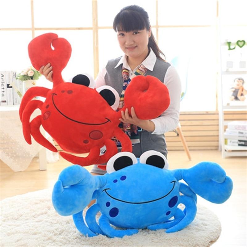 High Quality Staffed Cute Crab Plush Pillows Creative Birthday Gift Cartoon Steamed Crab Plush Toys Kids Doll Sofa Cushion
