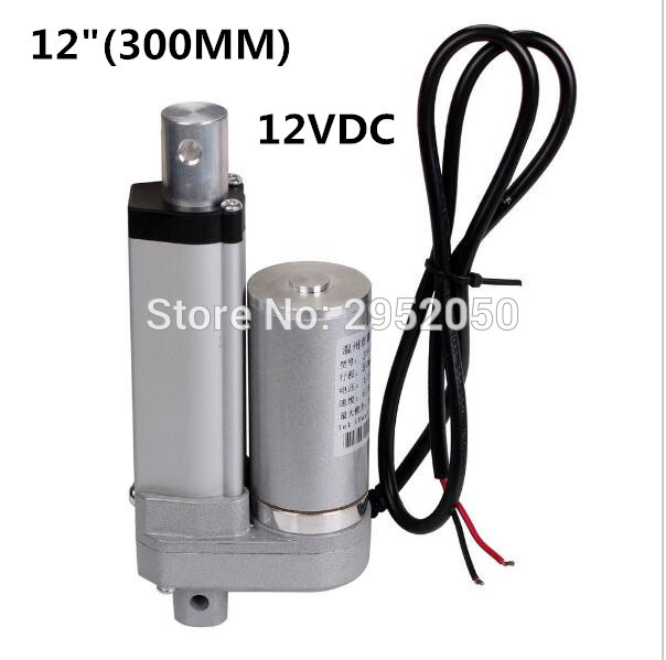 Low Noise Electric Linear Actuator 12v DC Motor 300mm Stroke Linear Motion Controller 6mm/s a kit 2 pcs stroke 300mm 12 linear actuator progressive dc motor 1 pcs electric adapter 1 pcs switch controller at same time