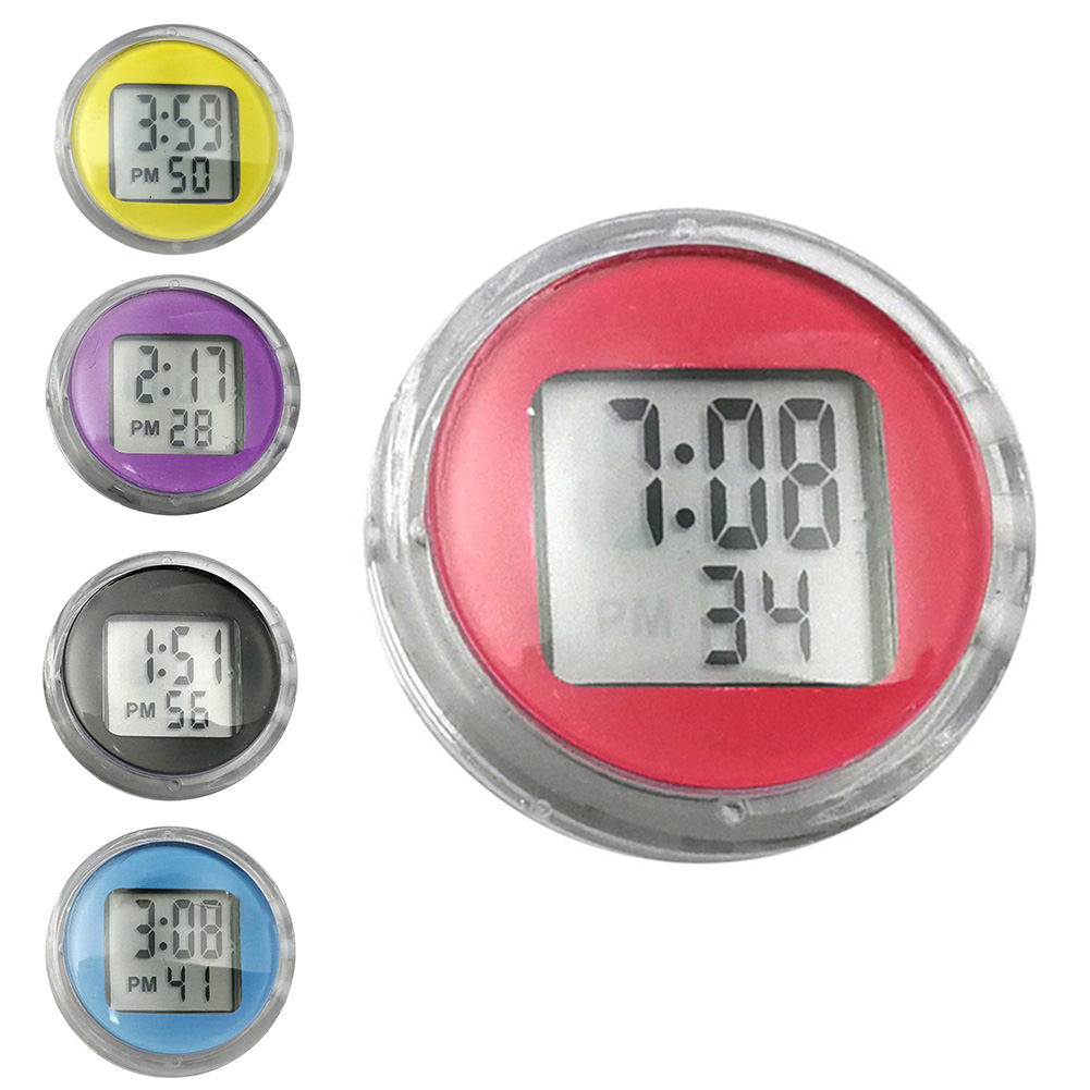 1Pcs Car Ornaments Durable Digital Car Ornaments Digital LCD Display Car Electronic Clock Thermometer Sticker