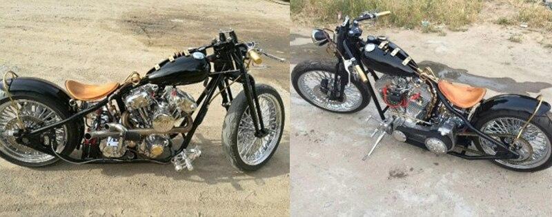 Moto modifié réservoir de carburant rétro double réservoir de carburant goutte d'eau réservoir modifié split rétro réservoir de carburant - 4