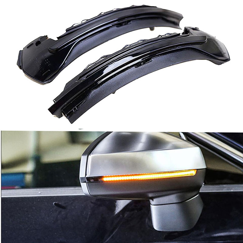 цена Water Flowing Turn Signal LED Side Wing Rearview Mirror Indicator Blinker Repeater Light For AUDI A3 S3 8V 2013 -2016 2017