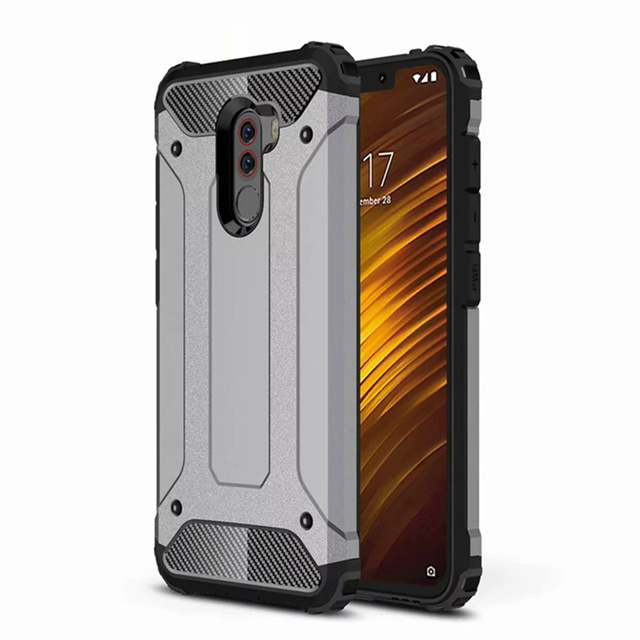 new style 16e9d 7509d US $2.48 30% OFF|Shockproof Armor Case For Xiaomi Pocophone F1 Hybrid Hard  PC +TPU Rugged Back Cover For Xiaomi Poco F1 F 1 Full Protection Coque-in  ...