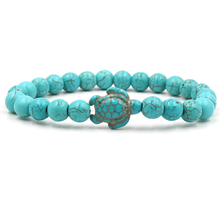 New Sea Turtle Beads Bracelets For Women Men Classic 14 colors Natural Stone Elastic Friendship Bracelet Beach Jewelry Gifts red watermelon tourmaline stone beads bracelet for women men natural stone bracelet crystal quartz bracelets elastic