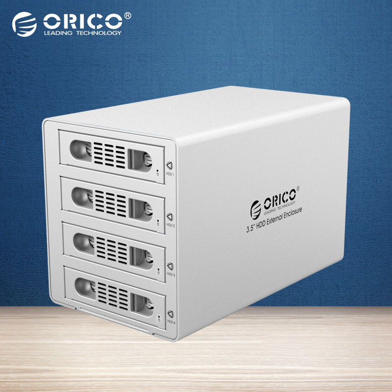 ORICO 3549RUS3 Tool Free Aluminum 4 Bay 3.5 SATA USB3.0 HDD External Docking Station RAID Function 4bay HDD Case