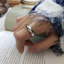 Кольцо из стерлингового серебра 925 пробы amaiyllis модное вогнутое