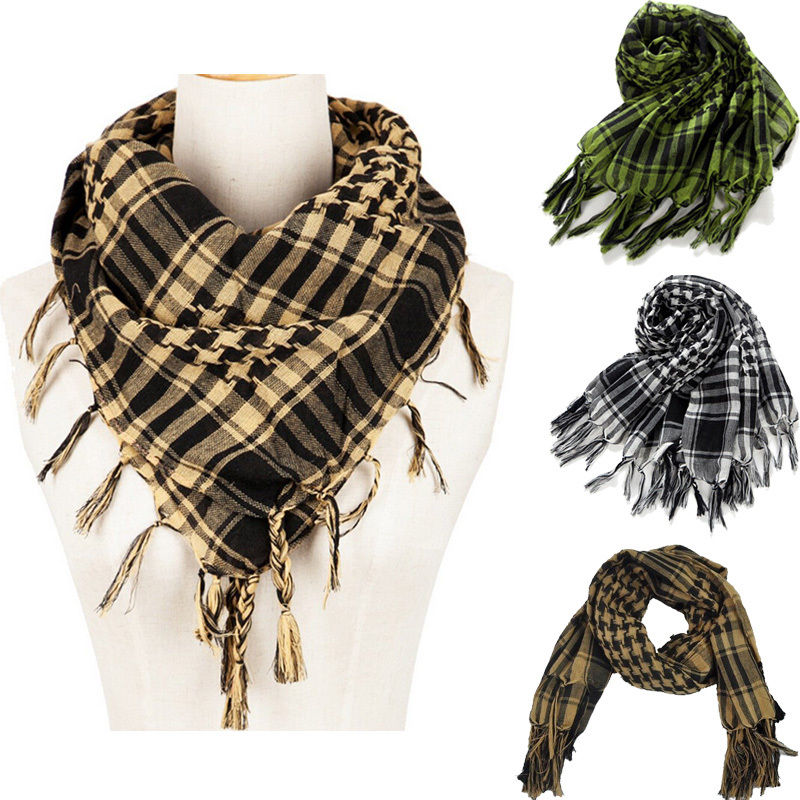 ITFABS Newest Arrivals Fashion Hot 110*110 Arab Shemagh Keffiyeh Military Tactical Palestine Light Scarf Shawl Wrap