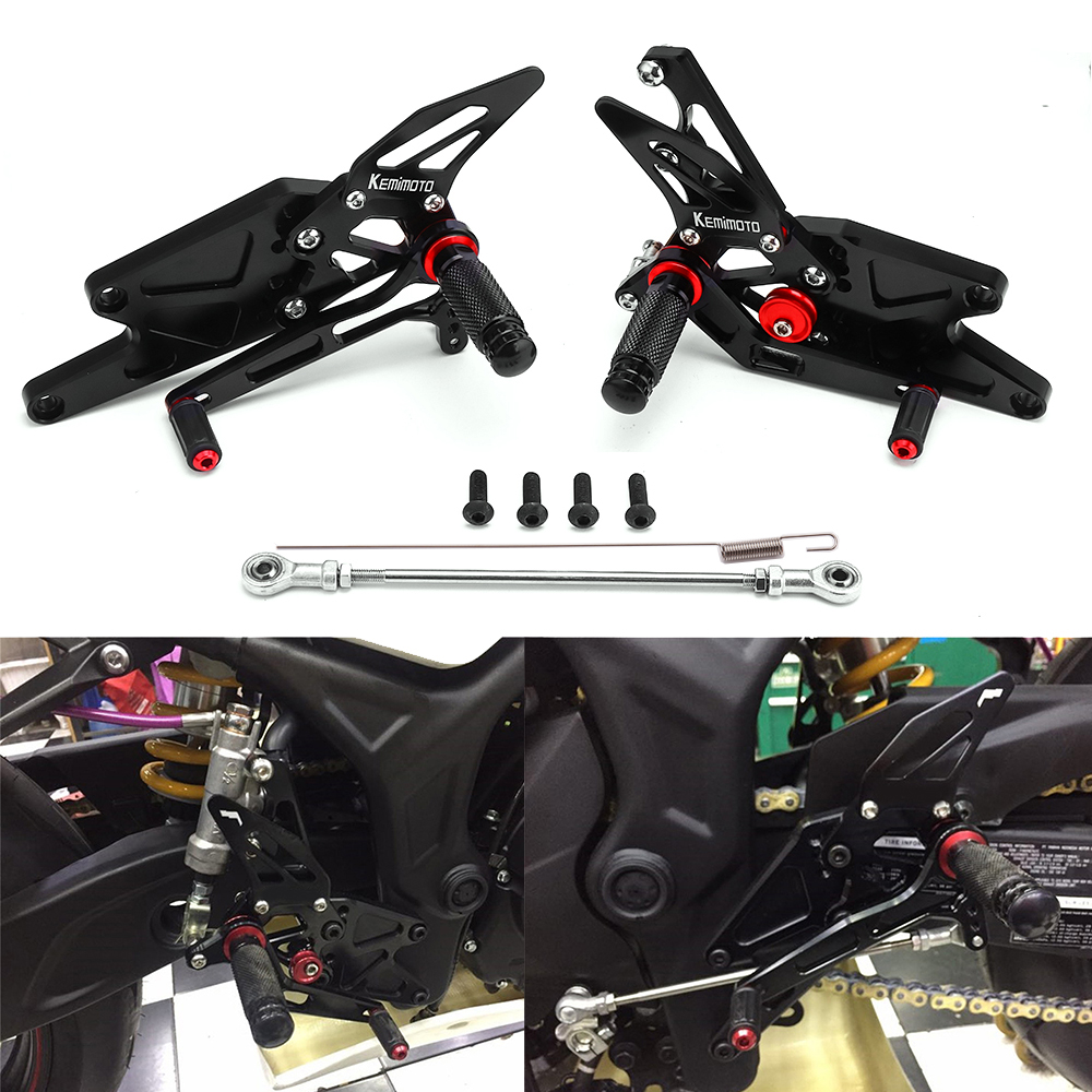 KEMiMOTO MT-03 R3 CNC Adjustable Rear Set Rearsets Footrest For Yamaha YZF R25 R3 2014-2016 & MT-25 2015-2016 New Arrival