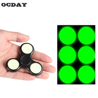 OCDAY Hand Spinner Fidget Spinner Toys Accessories DIY Powerful Noctilucent Patches With Soft Green Light For Fingertip Gyro Toy