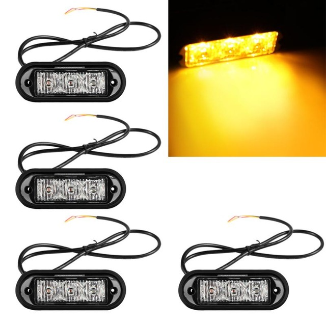 08003 12W new brake flashing lights 4*3led Car Truck Flash Strobe Emergency Warning Light Bulb High Power lights