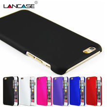 LANCASE Smartphone Case For iPhone 6s Case Hard Plastic Rubberized Cover For iPhone 6 7 8 Plus 5S Housing Coque For iPhone 6s 6