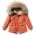 Mamimore 2017 New Year Parkas For Boys Girls Fur Jacket Coat Fashion Children Clothing Kids Clothes Outerwear Hot Sale