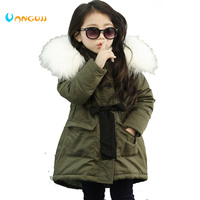 Korean Brand Girls Coats And Jackets Kids Faux Fur Collar Coat For Baby Girl Children Winter