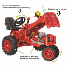Classic Tractor Technic Car Creator Model Building Blocks Bricks Technician compatible with legoinglys Toys For Children(China)