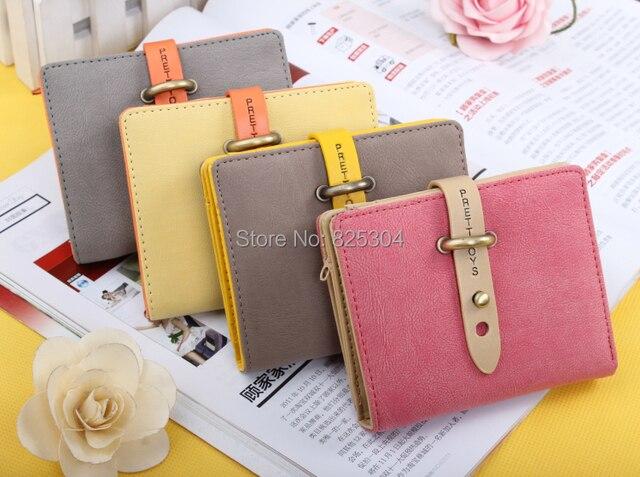 Cintos mulheres do desenhador bolsas de couro nobuck doce com mudança carteira de bolso para cartão de crédito, moeda em estilo Coreano frete grátis