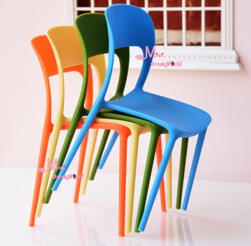 Amazing Simple Colorful Dreamhouse Chair Sofa Furniture Baby Toys 1/6 BJD Dolls  Furniture Art Dollhouse Miniature Plastic Chairs In Dolls Accessories From  Toys ...