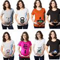 2017 New summer Funny style fashion pattern cotton pregnant women T-shirt maternity clothes big size retail 1 pcs