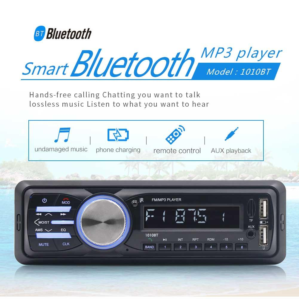 DC12V Car Mp3 Player FM Receiver 2 USB Disk Player AUX Input Player Wireless Handsfree Music Audio with USB interface Charger