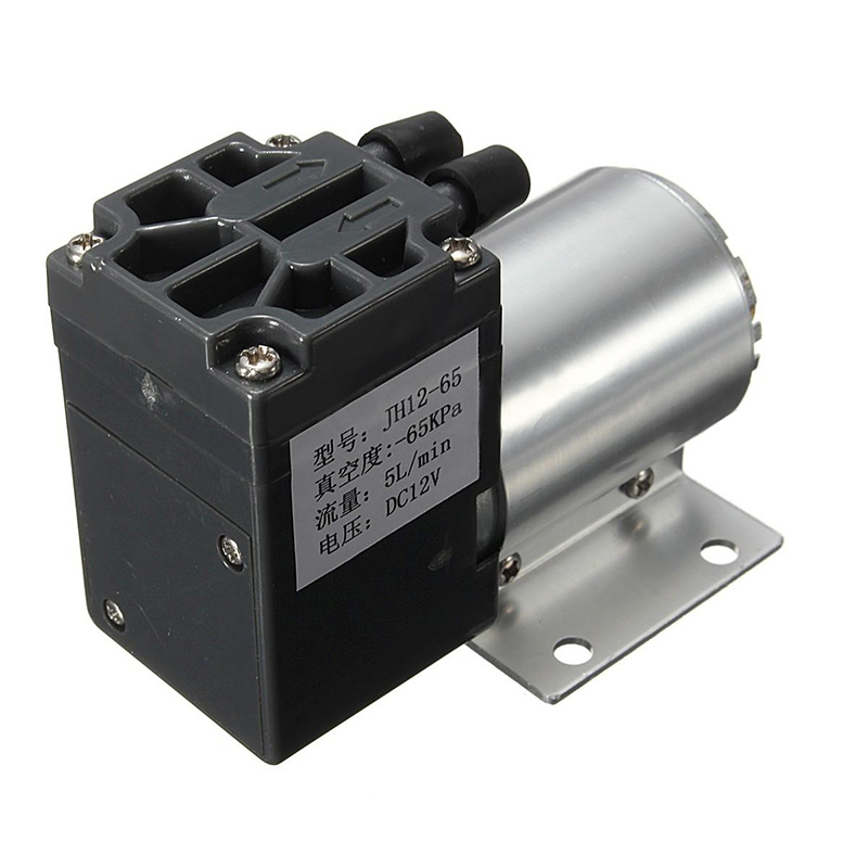 1pc Mini Vacuum Pump 12V 6W High Pressure Electric Diaphragm Pump with Holder 5L min