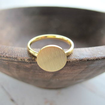 Minimalist Rose Gold Full Moon Ring