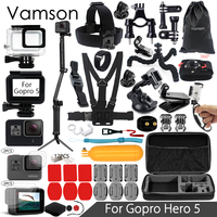 Vamson For Gopro Accessories Set For Gopro Hero 5 Waterproof Case Protection Frame 3 Way Monopod