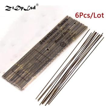 цена на 6PCS 130MM Diamond Wire Saw Blade Cutter Jewelry Metal Cutting Jig Blades Woodworking Hand Craft Tools Scroll Spiral Teeth
