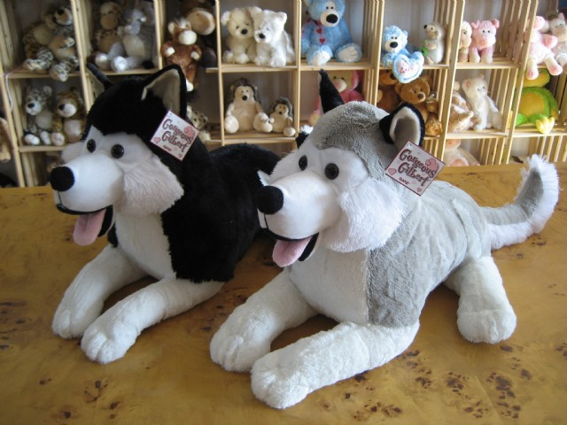 Plush Toy Dog Snow Dog Husky Sled Dogs Quality Gift Doll