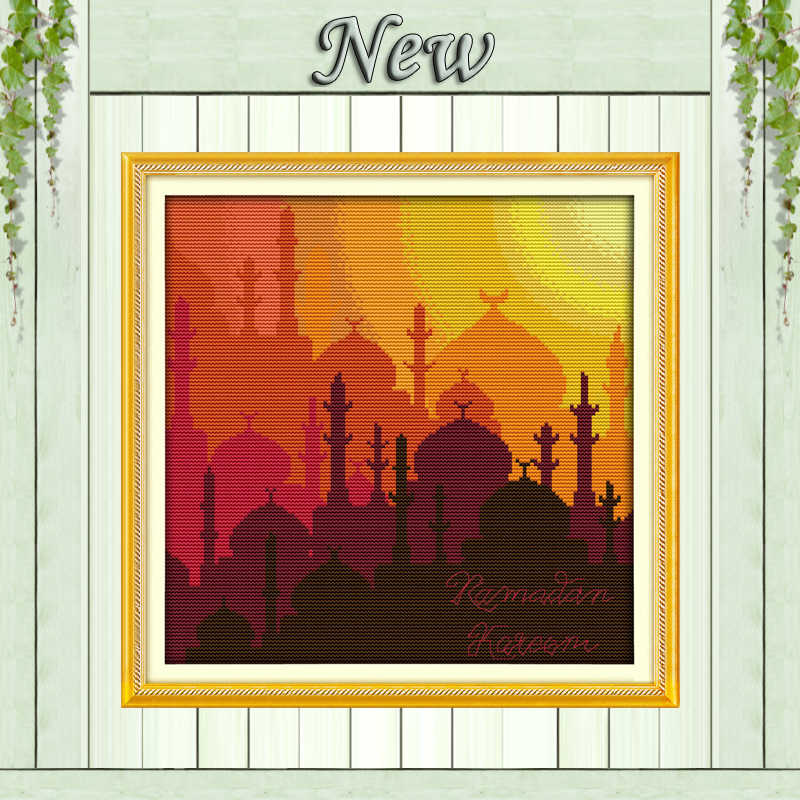 The Muslim holy month of Ramadan religious counted print on canvas DMC 14CT 11CT DIY Cross Stitch Embroider kits Needlework Sets