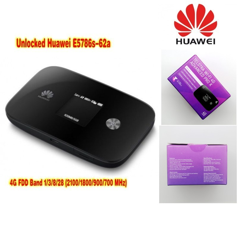 Lot de 100 pièces Débloqué Nouveau Original HUAWEI E5786 E5786s-62a 4G LTE Advanced CAT6 300 Mbps routeur plus 2 pièces d'antenne, DHL livraison