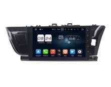 1024*600 Octa Core 2 din 10.1″ Android 6.0 Car DVD Radio GPS for Toyota Corolla Right 2014 2015 With 2GB RAM Bluetooth 32GB ROM