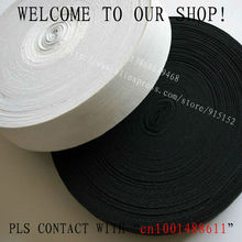 Free shipping 100mm Black Knitting Elastic Tape /Elastic Stretch Webbing ,garment accessories 10 yards, for wholesale and retail
