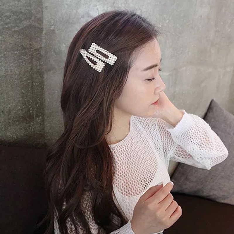 Geometris Klip Rambut Elegan untuk Wanita Tetesan Air Rambut Buatan Tangan Kelinci Mahkota Diademas Aksesoris Rambut